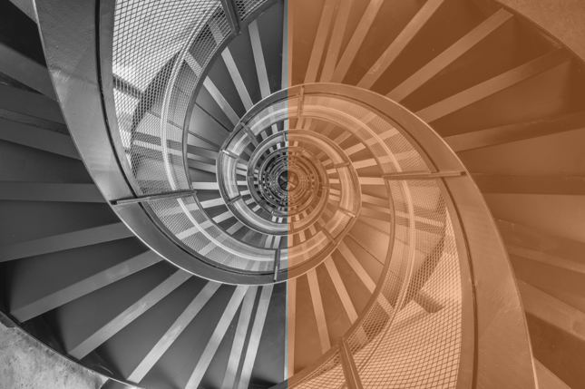Illustration escalier Deeper sight hypno-marketing